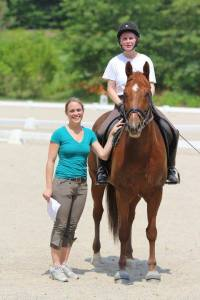 Meredith combines her passions as a social worker and equestrian to assist riders with anxiety issues.